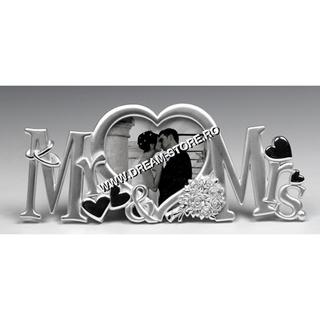 rama foto argintata mr&mrs