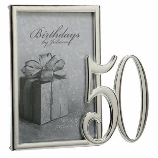 Rama foto argintata cadou pentru 50 de ani