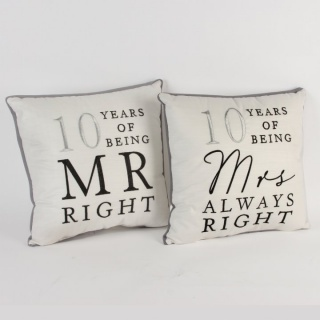 Set 2 perne mr right si mrs always right 10 ani