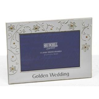 Rama foto nunta de aur petale