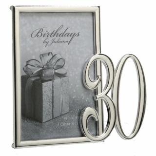 Rama foto argintata cadou pentru 30 de ani