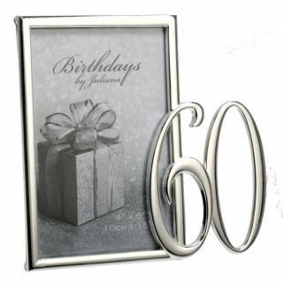 Rama foto argintata pentru 60 de ani