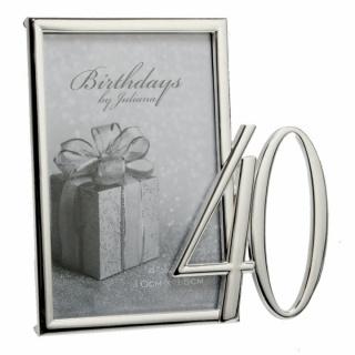 Rama foto argintata cadou pentru 40 de ani