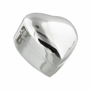 Cutiuta argintata inimioara pentru verighete cadou miri nunta