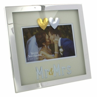 Rama foto argintata mr and mrs cadou casa noua