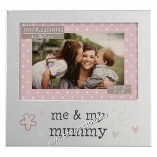 Rama foto argintie cadou mama