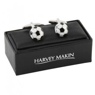 butoni minge de fotbal cadou pentru profesor de sport
