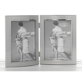 Rama foto dubla, argintiu anodizat 10x15