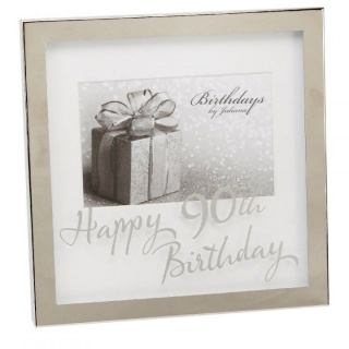 Rama foto argintata cu sticla inscriptionata 90