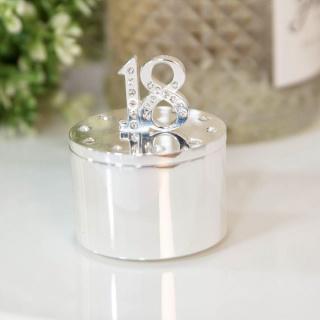 Cutiuta bijuterii argintata cu cristale 18 an