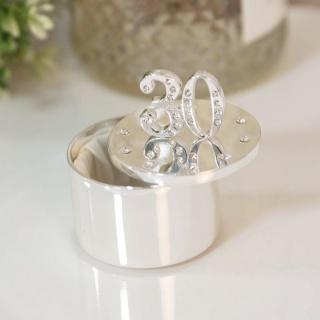 Cutiuta bijuterii argintata cu cristale cadou 30 ani